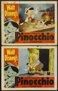 """Movie Posters:Animated, Pinocchio (RKO, R-1954). Lobby Cards (2) (11"""" X 14""""). Animated.... (Total: 2 Items)"""