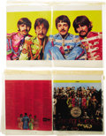 Music Memorabilia:Memorabilia, The Beatles Sgt. Pepper's Lonely Hearts Club Band AlbumProduction Color Keys (Capitol, 1967) The Fab Four's gro... (Total:2 Item)