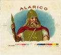 Antique Stone Lithography:Cigar Label Art, Alarico Cigar Inner Label Proof by Schumacher &Ettlinger, New York,...