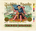 Antique Stone Lithography:Cigar Label Art, Yanko Spanko Cigar Inner Label Proof by F. Heppenheimer'sSons, New York,...