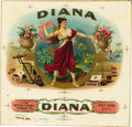 Antique Stone Lithography:Cigar Label Art, Diana Cigar Inner Label Proof,...