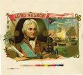 Antique Stone Lithography:Cigar Label Art, Lord Nelson Cigar Inner Label Proof,...