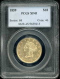 Liberty Eagles: , 1859 $10