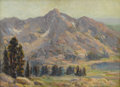 Western:19th Century, EDGAR PAYNE (American 1882-1947). Sierra Nevada Mountains. Oil on canvas. 9-1/2 x 13 inches (24.1 x 33 cm). Signed lower...