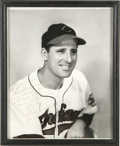 Autographs:Photos, Hank Greenberg Signed Photograph. This black and white photo of the two-time AL MVP bears an inscription to J. Alvin Gardne...