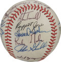 Autographs:Baseballs, 1984 Detroit Tigers Team World Champion Signed Baseball. Under therule of HOF skipper Sparky Anderson, the 1984 Detroit Ti...