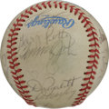 Autographs:Baseballs, 1984 California Angels Team Signed Baseball. Here we present acreamy OAL (MacPhail) orb with the signatures of 21 members ...