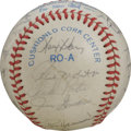 Autographs:Baseballs, 1983 Milwaukee Brewers Team Signed Baseball. The 1983 MilwaukeeBrewers are represented here by this exceptional OAL (MacPh...