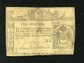 Colonial Notes:New York, New York February 16, 1771 £10 Extremely Fine. This scarce note hasa repair at center, a pinhole, and a handful of small s...