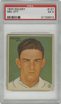 Baseball Cards:Singles (1930-1939), 1933 Goudey Mel Ott #127 PSA EX 5. Difficult to find in such grades, this Mel Ott card from the '33 Goudey set exhibits exc...