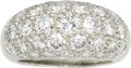 Estate Jewelry:Rings, Diamond, Platinum Ring, Van Cleef & Arpels. The ring, of bombé form, features full-cut diamonds weighing a total of approx...