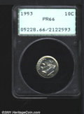 Proof Roosevelt Dimes: , 1953 10C