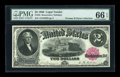 Large Size:Legal Tender Notes, Fr. 55 $2 1880 Legal Tender PMG Gem Uncirculated 66 EPQ....
