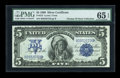 Large Size:Silver Certificates, Fr. 272 $5 1899 Silver Certificate PMG Gem Uncirculated 65 EPQ....