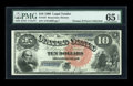 Large Size:Legal Tender Notes, Fr. 107 $10 1880 Legal Tender PMG Gem Uncirculated 65 EPQ....