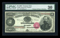 Large Size:Treasury Notes, Fr. 355 $2 1890 Treasury Note PMG Very Fine 30....