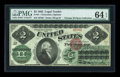 Large Size:Legal Tender Notes, Fr. 41 $2 1862 Legal Tender PMG Choice Uncirculated 64 EPQ....