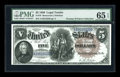 Large Size:Legal Tender Notes, Fr. 78 $5 1880 Legal Tender PMG Gem Uncirculated 65 EPQ....