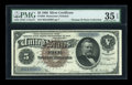 Large Size:Silver Certificates, Fr. 264 $5 1886 Silver Certificate PMG Choice Very Fine 35 EPQ....