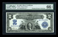 Large Size:Silver Certificates, Fr. 257 $2 1899 Silver Certificate PMG Gem Uncirculated 66 EPQ....