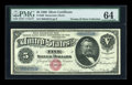 Large Size:Silver Certificates, Fr. 260 $5 1886 Silver Certificate PMG Choice Uncirculated 64....