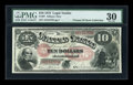 Large Size:Legal Tender Notes, Fr. 97 $10 1875 Legal Tender PMG Very Fine 30....