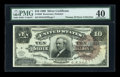 Large Size:Silver Certificates, Fr. 296 $10 1886 Silver Certificate PMG Extremely Fine 40....