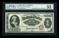Large Size:Silver Certificates, Fr. 215 $1 1886 Silver Certificate PMG About Uncirculated 55....