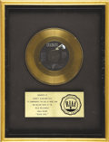 "Music Memorabilia:Awards, Hall & Oates ""Rich Girl"" RIAA Gold Single Award. Presented toAbbey Konowitch to commemorate the sale of more that one milli...(Total: 1 Item)"
