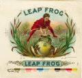 Antique Stone Lithography:Cigar Label Art, Leap Frog Cigar Inner Label Proof by George S. Harris &Sons, New York,...