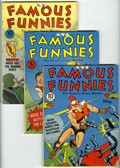 Golden Age (1938-1955):Miscellaneous, Famous Funnies Group (Eastern Color, 1941-44) Condition: Average VG-.... (Total: 8 Comic Books)