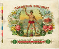 Antique Stone Lithography:Cigar Label Art, Colossus Bouquet Cigar Inner Label Proof by George Harris& Sons, New York,...