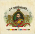 Antique Stone Lithography:Cigar Label Art, La Britanica Cigar Inner Label Proof by the AmericanLithographic Co., New York,...