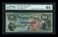Large Size:Legal Tender Notes, Fr. 96 $10 1869 Legal Tender PMG Choice Uncirculated 64 EPQ....