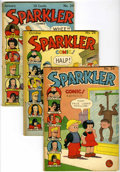 Golden Age (1938-1955):Miscellaneous, Sparkler Comics Group (United Features Syndicate, 1943-44) Condition: Average GD/VG.... (Total: 6 Comic Books)