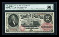 Large Size:Legal Tender Notes, Fr. 46 $2 1875 Legal Tender PMG Gem Uncirculated 66 EPQ....