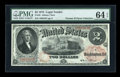 Large Size:Legal Tender Notes, Fr. 45 $2 1875 Legal Tender PMG Choice Uncirculated 64 EPQ....