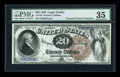 Large Size:Legal Tender Notes, Fr. 130 $20 1880 Legal Tender PMG Choice Very Fine 35....
