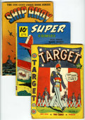 Golden Age (1938-1955):War, Miscellaneous War Group (Various Publishers, 1940-53) Condition:Average GD-.... (Total: 6 Comic Books)