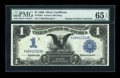 Large Size:Silver Certificates, Fr. 229a $1 1899 Silver Certificate PMG Gem Uncirculated 65 EPQ....