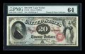 Large Size:Legal Tender Notes, Fr. 129 $20 1878 Legal Tender PMG Choice Uncirculated 64....
