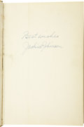 """Autographs:Others, 1964 Jackie Robinson Signed Book. """"The right of every American tofirst-class citizenship is the most important issue today..."""