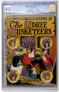 Golden Age (1938-1955):Classics Illustrated, Classic Comics #1 The Three Musketeers (Gilberton, 1941) CGC VG+4.5 Off-white pages....