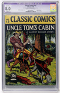 Golden Age (1938-1955):Classics Illustrated, Classic Comics #15 Uncle Tom's Cabin (Gilberton, 1943) CGC ApparentVF 8.0 Slight (A) Cream to off-white pages....