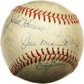 Autographs:Baseballs, Circa 1970 Hall of Famers Multi-Signed Baseball . We suspect thatthis ONL (Giles) ball derives from a Cooperstown inductio...