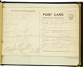 Autographs:Others, Late 1930's Autograph Book Signed by Babe Ruth, Red Grange. Charming childhood volume is populated mainly by silly little p...