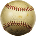 Autographs:Baseballs, 1938 New York Yankees Team Signed Baseball. The final taste of World Championship glory for the great Iron Horse, whose mus...