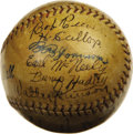 Autographs:Baseballs, 1927 Washington Senators Team Signed Baseball. The legendary Walter Johnson added the final five victories to his career to...