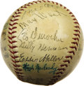 Autographs:Baseballs, 1940 National League All-Star Team Signed Baseball. A first inninghome run by Max West proved to be all the Nationals woul...