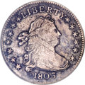 Early Dimes, 1803 10C XF Details, Environmental Damage, NCS. ...